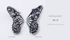 アゲハ蝶の片羽根ペンダント003