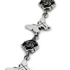 アゲハ蝶と薔薇のブレスレット086