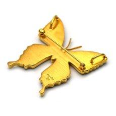 パールカラーが美しいブローチ兼ペンダント(ゴールド)