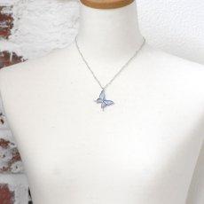 真珠色のグラデーションが美しい蝶のペンダント028(シルバー)