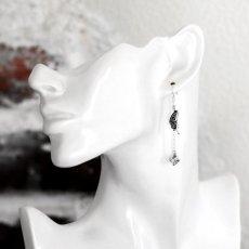アゲハ蝶の片羽根とストーンチャームのピアス005【Ageha|アゲハ】