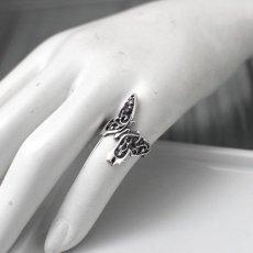 アゲハ蝶 アラベスク模様 シルバーリング [誕生石]【Ageha|アゲハ】