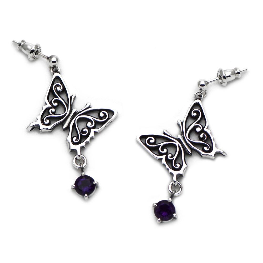 アラベスク模様のアゲハ蝶のピアス056