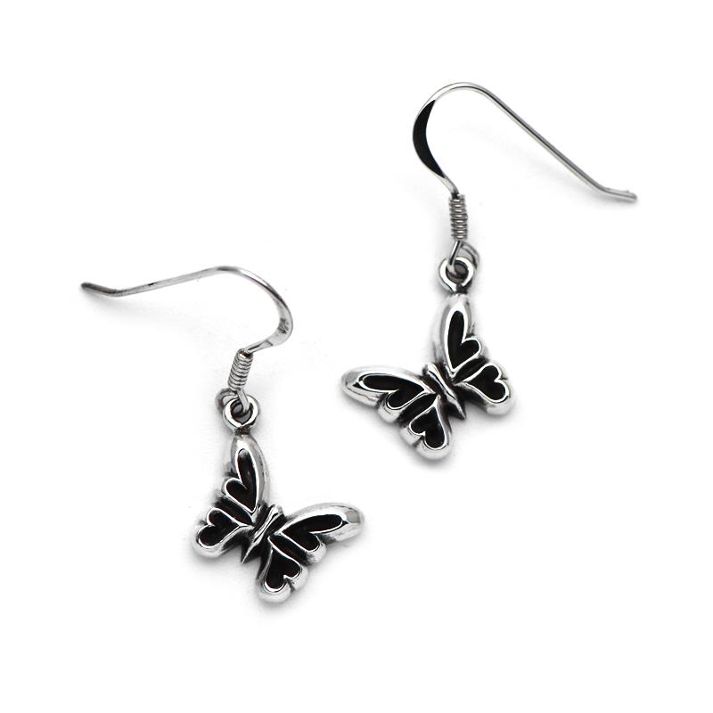 小さなアゲハ蝶のシルバーピアス066E【当店限定】【Ageha|アゲハ】