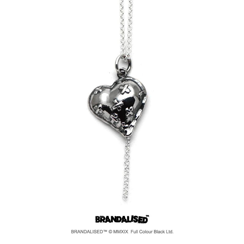 [ブランダライズド 公式コラボアクセサリー] バンクシー バンドエイドハートペンダント 【cooldust×BRANDALISED™ 】