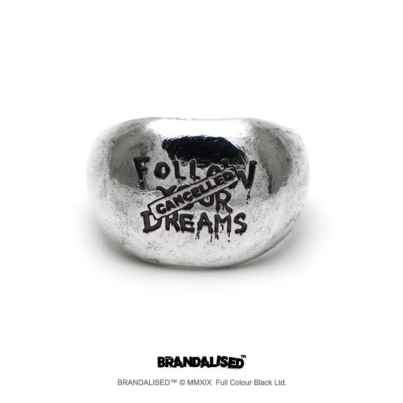 [ブランダライズド 公式コラボアクセサリー] バンクシー フォローユアドリームズ シルバーリング 【cooldust×BRANDALISED™ 】